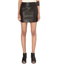 Iro Elodie Leather Mini Skirt Black
