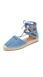 Aquazzura Belgravia Denim Espadrilles Light Blue