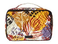 Vera Bradley Large Blush Brush Makeup Case Painted Feathers Cosmetic Case Multi