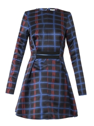 Kenzo Neon Plaid Print Dress