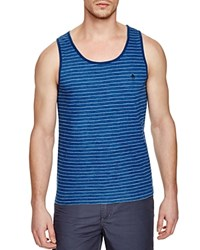 Original Penguin Feeder Stripe Slim Fit Tank Top 489 Dark Denim