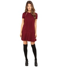 Red Valentino Tech Ponte Jersey Dress Maroon