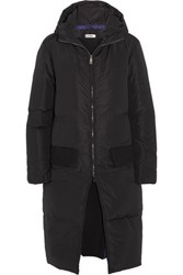 Jil Sander Layered Quilted Shell Down Coat Midnight Blue