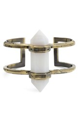 Kendra Scott Women's 'Shelli' Wrist Cuff White Agate Antique Brass