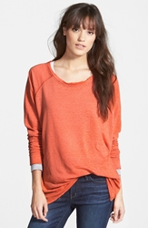 Stem Long Sleeve Raglan Tee Orange Fiesta