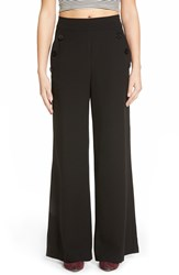 Lily White Button Trousers Black