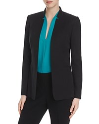 Elie Tahari Danette Inverted Notch Lapel Blazer Black Multi