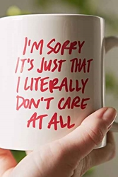 Literally Dont Care Mug Urban Outfitters
