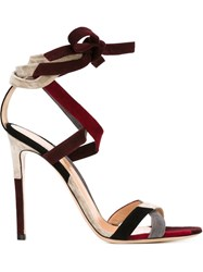 Gianvito Rossi Strappy Stiletto Sandals Red