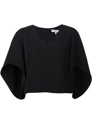 Milly Cape Sleeves Top Black