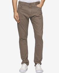Calvin Klein Men's Tapered Sateen Pants Mastice