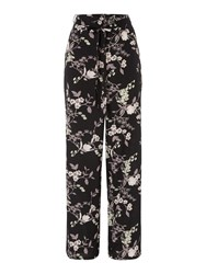 Therapy Ori Floral Trousers Black
