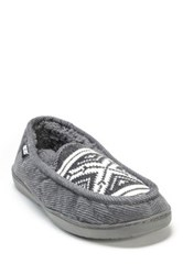 Muk Luks Henry Faux Fur Slipper Gray