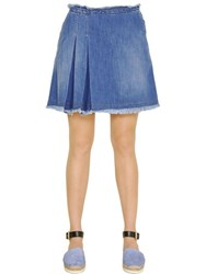 See By Chloe Stone Wash Cotton Denim Mini Skirt