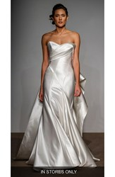 Anna Maier Couture Women's Penelope Strapless Silk Duchess Satin Gown