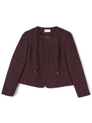 Precis Petite Lacy Boucle Jacket Red