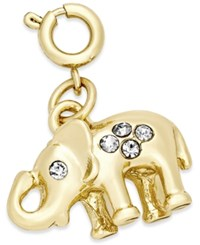 Inc International Concepts Gold Tone Crystal Elephant Charm Only At Macy's