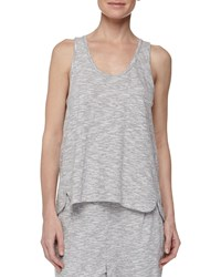 Skin Piped Wing Jersey Tank Silver