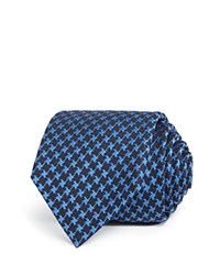 Bloomingdale's The Men's Store At Houndstooth Silk Wool Classic Tie Navy