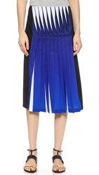 Dion Lee Lenticular Pleated Skirt Cobalt Black