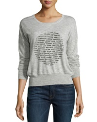 Christopher Fischer Cashmere Words Of Wisdom Top Ground Sparkler