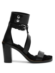 Isabel Marant Jenyd Leather Sandals Black
