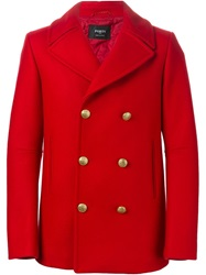 Ports 1961 Metal Button Peacoat Red