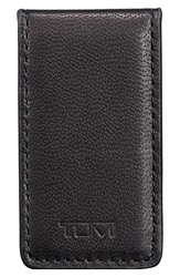 Tumi 'Chambers' Leather Magnetic Money Clip Black