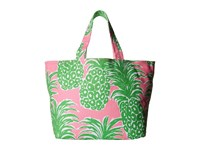 Lilly Pulitzer Beach Tote Pink Pout Flamenco Accessories Tote Handbags Green