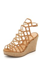 Schutz Marilyn Wedge Sandals Bamboo