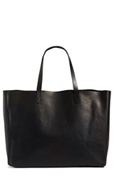 Madewell 'The Transport East West' Leather Tote Black True Black