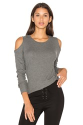 Lna Meridian Long Sleeve Top Gray
