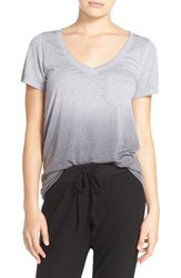 Make Model Women's 'Gotta Have It' V Neck Tee Grey Sleet Ombre