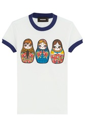 Dsquared2 Matryoshka Doll Printed T Shirt White
