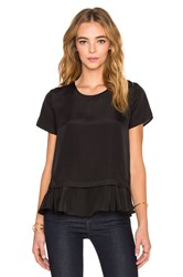 Central Park West Banff Layered Top Black