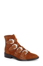 Givenchy Women's Buckle Bootie Caramel Suede