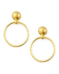 Geo 24K Hoop Drop Earrings Gurhan Gold