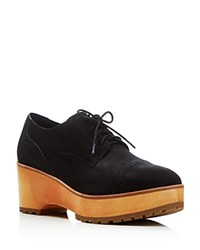 Eileen Fisher Act Platform Oxfords Black