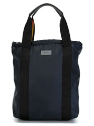 Paul Smith Zipped Top Tote Blue