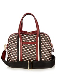 Pierre Hardy Rally Cube Print Coated Canvas Tote Red Multi