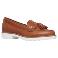 Kg By Kurt Geiger Kola Cleated Sole Moccasins Tan Leather