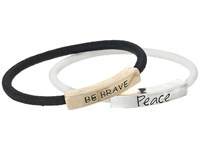 The Sak Sakroots By Be Brave Peace Elastic Bracelet Set Multi Bracelet