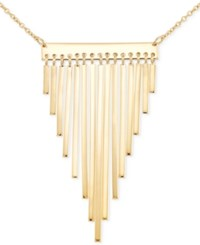 Sis By Simone I Smith Fringe Bar Statement Necklace In 18K Gold Over Sterling Silver Yellow Gold