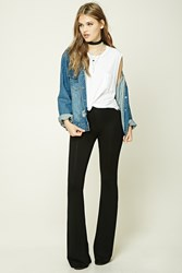 Forever 21 Stretch Knit Flared Pants