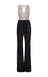 Zuhair Murad Fully Embroidered Tulle Jumpsuit Multi