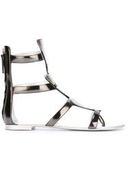 Giuseppe Zanotti Design Strappy Sandals Metallic