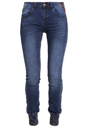 Desigual Refriposas Slim Fit Jeans Blue Denim