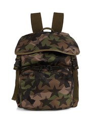 Valentino Camustars Print Nylon Backpack Multi