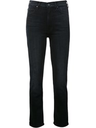 Mother Straight Leg Jeans Blue
