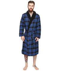 Original Penguin Flannel Fleece Robe Classic Blue Men's Robe